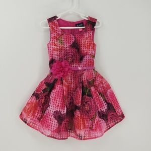 Children's Place Sleeveless Floral Flare Dress 4T
